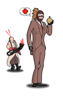 team fortress 2 spy girl by deathjester