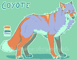 CHARACTER AUCTION - Coyote by SmidgeFish