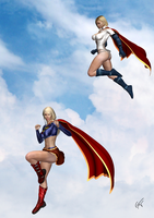 Powergirl upper hand by GustavoArmando