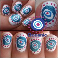 Oceanic flights nail art by Ninails