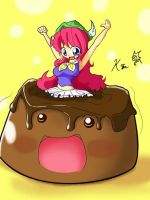 Art Trade: Giga choco puddi by Kei-Waza