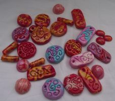 Polymer Clay Lot by astraldreamer