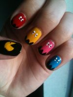 Pacman Nails by sibs23