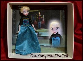 give-away repainted ooak mini elsa doll. by verirrtesIrrlicht