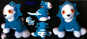 Fakemon Niptune Plush by Ami-Plushies