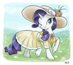 Rarity in a Yellow Spring Dress by King-Kakapo