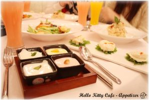 Hello Kitty Cafe Appetizer by danseKat