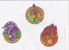 Character Buttons: Spyroid, Squiddy, L by spyroid101