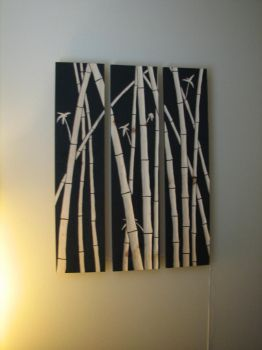 bamboo design on wood by brantgates