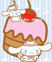 Cinnamoroll, Milk And Big Cake by OkashiTi