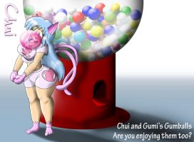 Chui and Her Rather Large Gumball Machine by Thiridian
