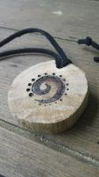 Tribal Spiral Oak Pendant by Troll-Blood