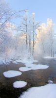 Winter river by KariLiimatainen