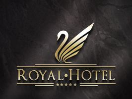 Royal Hotel logo by in-line