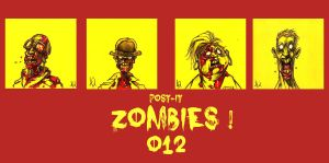 POST IT ZOMBIES ZERO TWELVE by QuinteroART