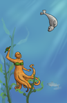 Mermaid And Seal Puppy by burrito-madness