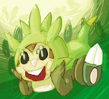 Chespin by danceswithzerg
