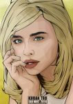 Fan art 2014 Chloe Moretz 1 by KHUANTRU