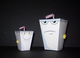 Ezekiel and Master Shake by CyberDrone