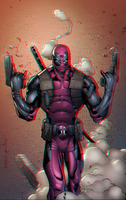 Deadpool Anaglyph by Geosammy