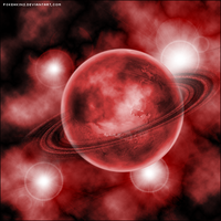 A red space scene by Pokehkins