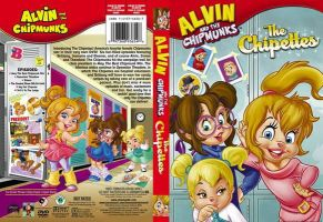 The Chipettes DVD Front and Back Cover by gleefulchibi