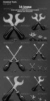 Detailed Tools icon pack by ConstantinPotorac