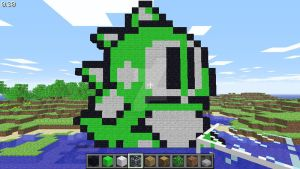Bub (Bubble Bobble Part 2 NES) in Minecraft by superslinger2007