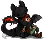 Toothless Hug Redo by sharkie19