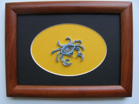 Aug.07, Blue Crab in Quilling by eidatwong
