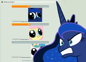 Luna is not happy with this by UnicornOfShadows