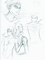 sketches: Young Justice by Sui-Sui