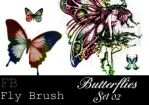Fly Brush- butterfly 2 by butterfly-stock