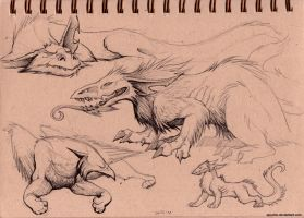 dog dragons by spocha