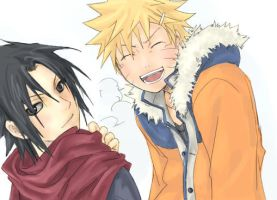 SasuNaru coloured by joylukos