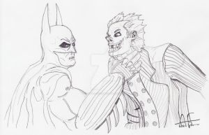 Batman Grips The Joker by Stone-Fever