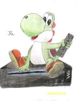 Yoshi and his Wii by re11ding