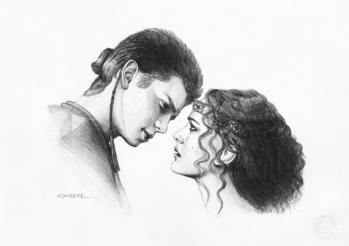 Anakin Padme by leatris