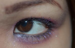 Dark Brown Eyes Sparkly Purple Lashes 4 by mimx-Stock