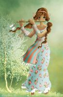 Flute Girl by Loulou13