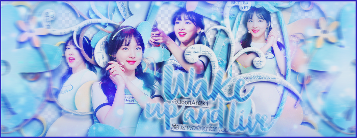 [ Share PSD Artwork ] 18/7/2016 Wake up and live by JoonAh2k1