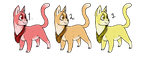 Kitten Triplets Adopts! [OPEN! 3/3] by FourthFilly4th