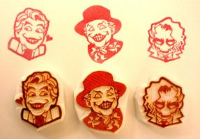 Joker from 3D world stamps by mukuuji