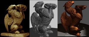 Griffin, 3D Game Model by nhsubhash
