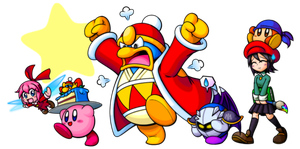 Kirby and his Friends! by superkid123