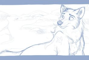 Ondjage - Commission WIP by kohu-scribbles