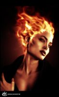 Hair In Flames by erickenji