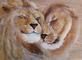 Lion love by IzabellaNemd