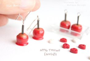 Red Apple Toffees Earrings by LaNostalgie05