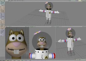 Sandy Cheeks In The Works by WillowFox